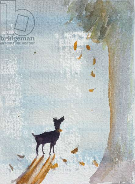 Looking At Falling Leaves, 2012 (w/c on paper)