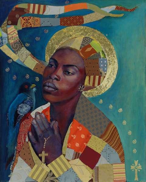 Lamentation pour Haiti (acrylic & mixed media on canvas)