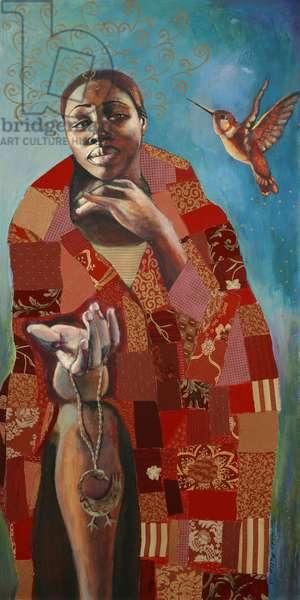 Sankofa (acrylic & mixed media on canvas)