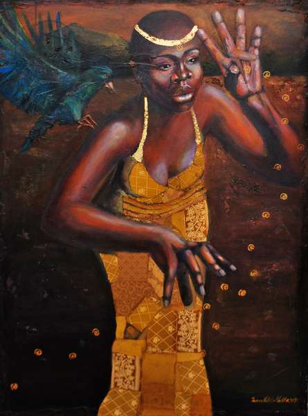 Enlightened, 2009 (mixed media on canvas)