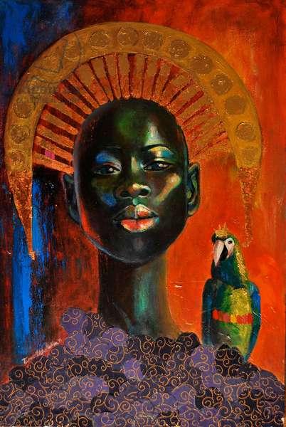 La Femme Verte, 2010 (mixed media on canvas)