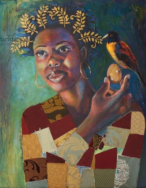 Earth Queen (acrylic & mixed media on canvas)