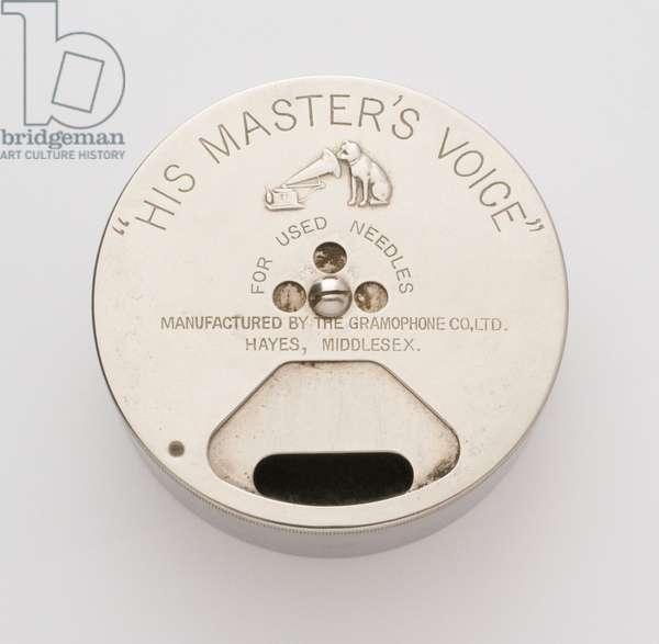 HMV needle container (photo)