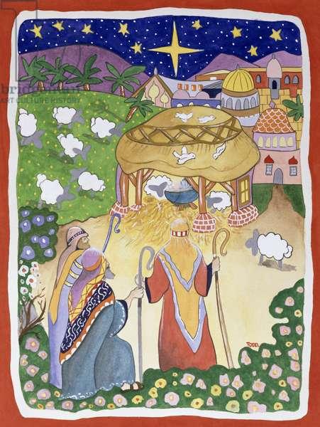 The Three Shepherds, 2005 (w/c on paper)