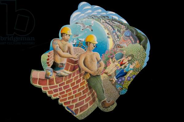 The Young Builder, 2010 (acylic on board)