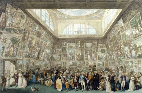 The Exhibition of the Royal Academy, 1787, engraved by Pietro Antonio Martini (1738-97), 1787 (engraving)