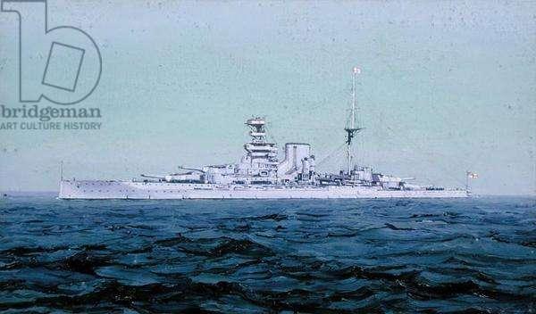 HMS Queen Elizabeth, 1927 (oil on canvas)