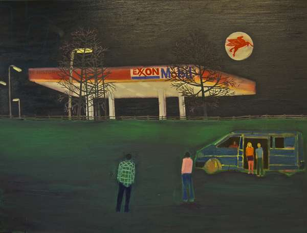 Gas Station, 2011 (oil on linen)