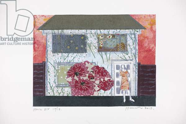 House 10/15, 2013 (Chine-collé drypoint)