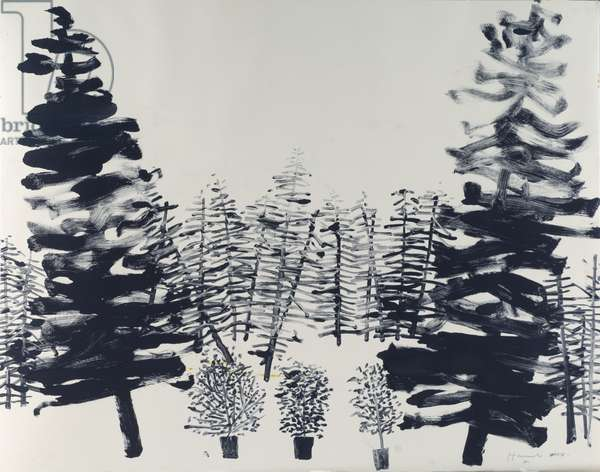 Small Trees in a Clearing, 2008 (monotype)