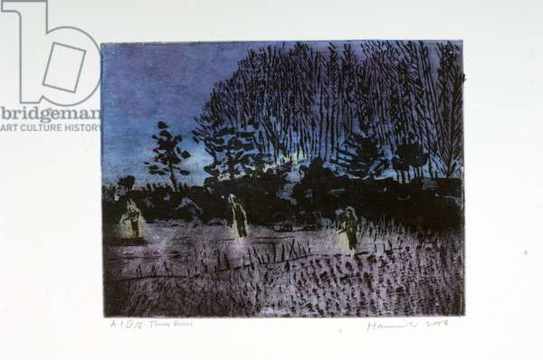 Three Guns AP 4/5, 2006 (sugar lift etching & Chine-collé)