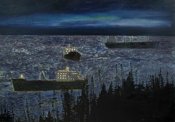 Three Ships, 2006 (oil on linen)