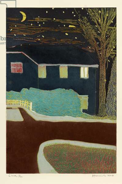 Close (in Moonlight), 2007 (etching, aquatint & Chine-collé)