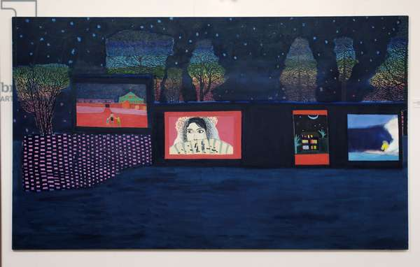 Nocturnal, Paintings seen from a Garden, 2008 (oil on linen)