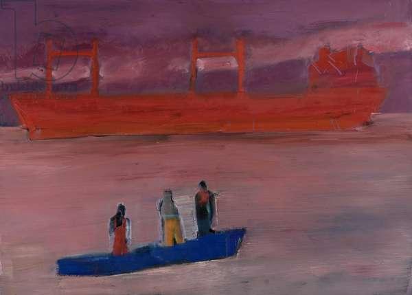 Delta Study, 2007 (oil on linen)