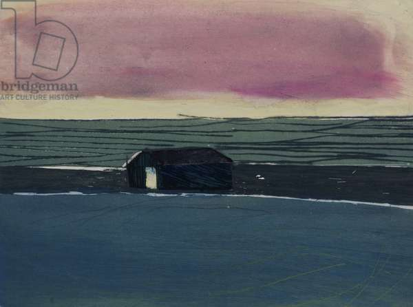 Sea Barn E.V. 3/10, 2012 (hand-coloured etching)