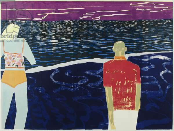 Honeymoon, 2002 (edition variable reduction woodcut)