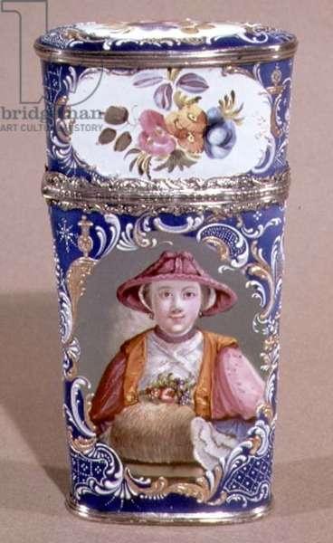 Etui, Bilston enamel, 18th century