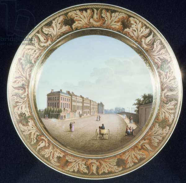 View of Apsley House on a plate, Berlin (porcelain)