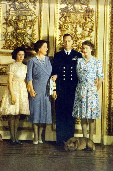 George VI and family, 1944 (photo)