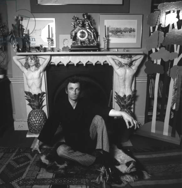 Patrick Procktor, c.1970 (b/w photo)