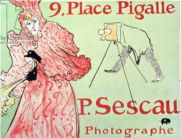 SAN/2975/D 'P. Sescau, Photographe', shop sign for the artist's friend the photographer Paul Sescan, 1896 (litho)