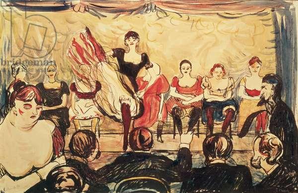Cancan, 1896 (oil on canvas)