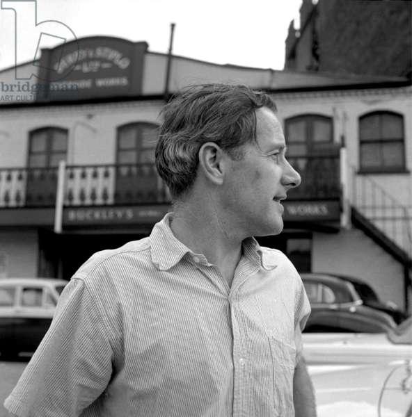 Sir Sidney Nolan, 1962 (b/w photo)