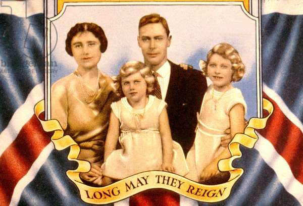 George VI and family Coronation Songbook, 1936 (colour litho)