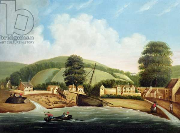 The Strand, Torquay, c.1780 (oil on canvas) (pair of 89622)