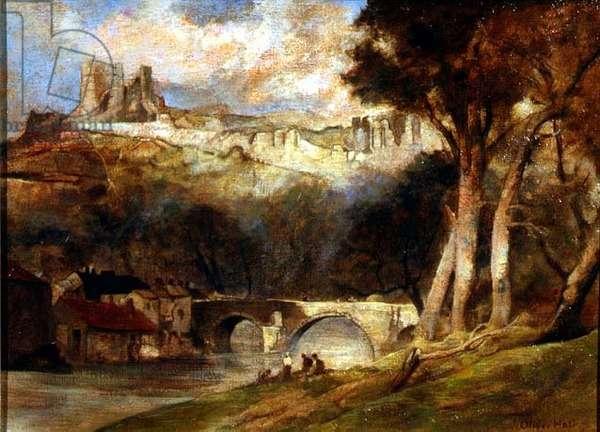Richmond Castle (oil on canvas)