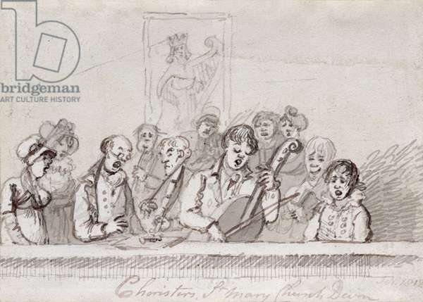 Choristers, St. Mary's Church, c.1812 (pen & ink on paper)