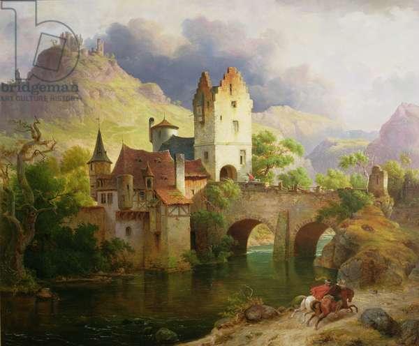 Horsemen Returning, c.1851 (oil on canvas)