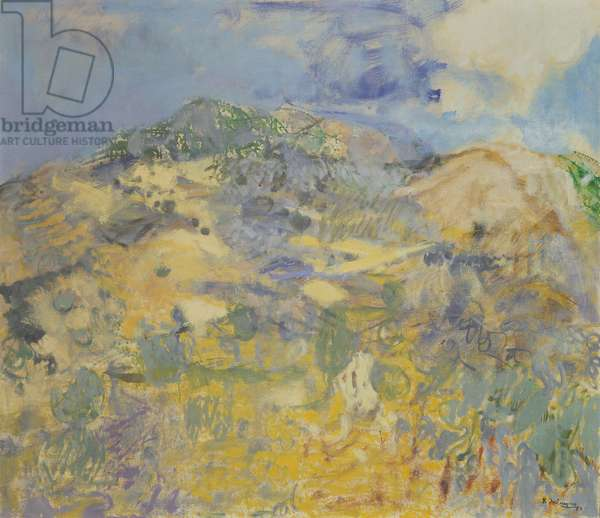 Hills above Anticoli, 1959 (oil on canvas)