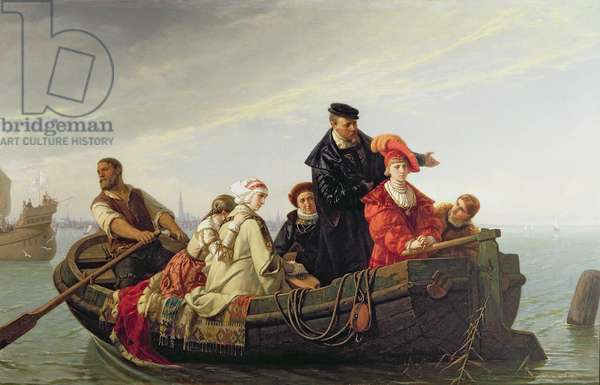 Spaniards Leaving the Netherlands, 1871 (oil on canvas)