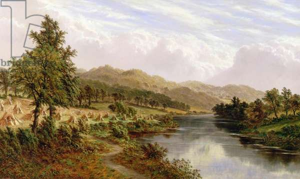 The River Severn, near Bewdley, c.1876 (oil on canvas)