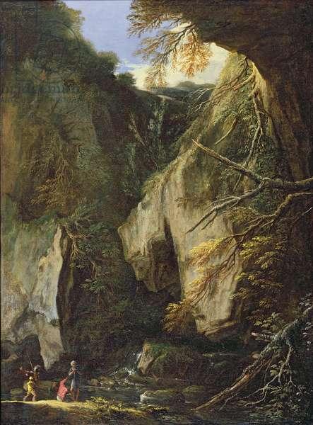 Rocky Landscape (oil on canvas)
