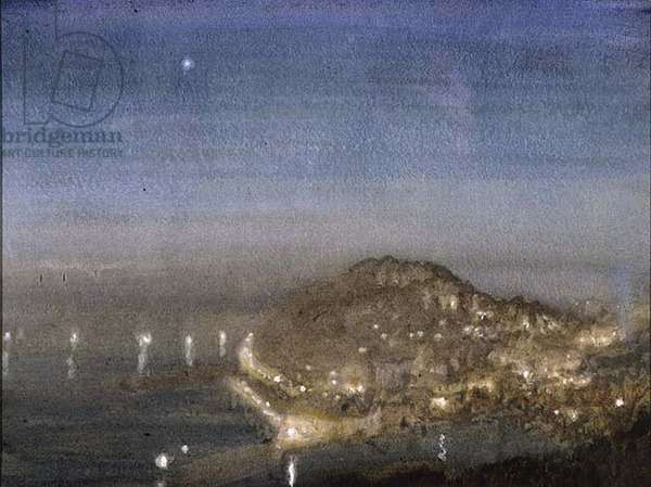 Torquay Harbour from Vane Hill, 1911 (w/c on paper)