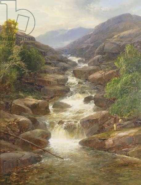 Upper Falls, Aberfeldy, 1870 (oil on canvas)