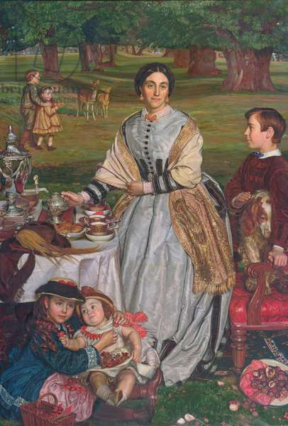 The Children's Holiday (Portrait of Mrs Thomas Fairbairn and her Children) 1864-65 (oil on canvas)