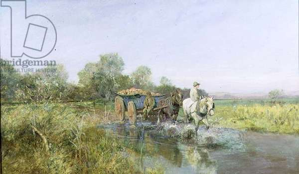 Homewards, c.1896 (oil on canvas)