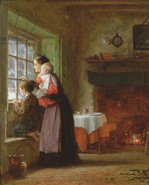 An Anxious Time, 1876 (oil on board)