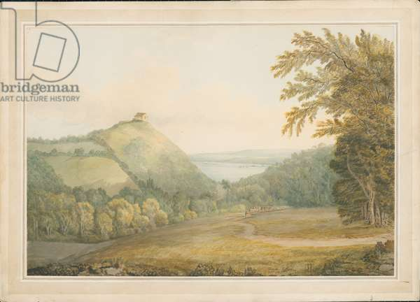 Chapel Hill, from Old Woods Hill, 1791 (pen & ink with w/c on paper)