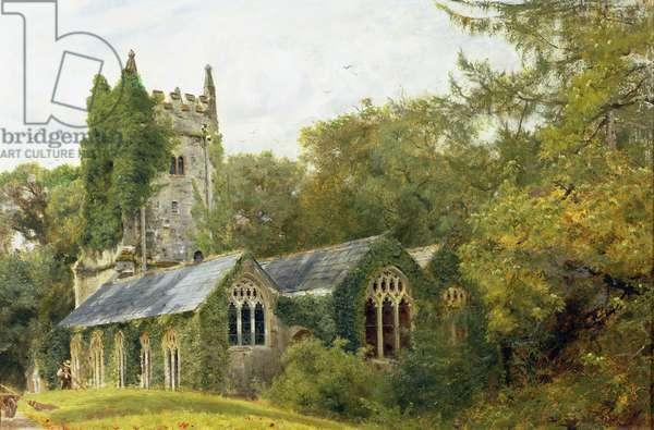 Cockington Church, 1889 (oil on canvas)