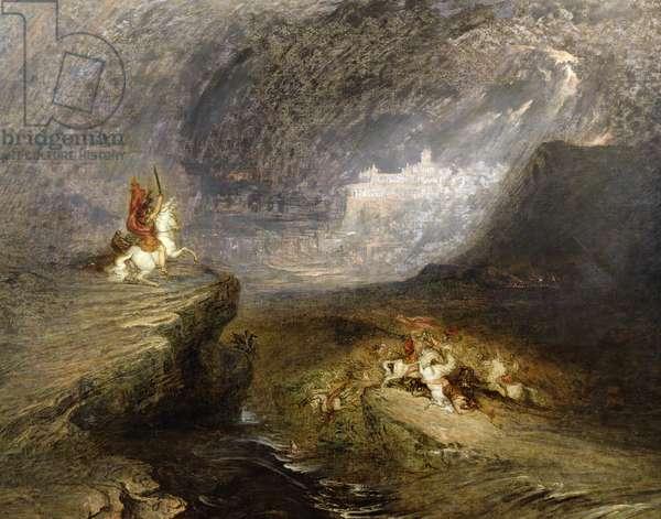 Battle Scene, c.1837 (oil on canvas)