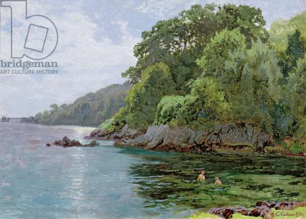 Cawsand Bay (oil on panel)