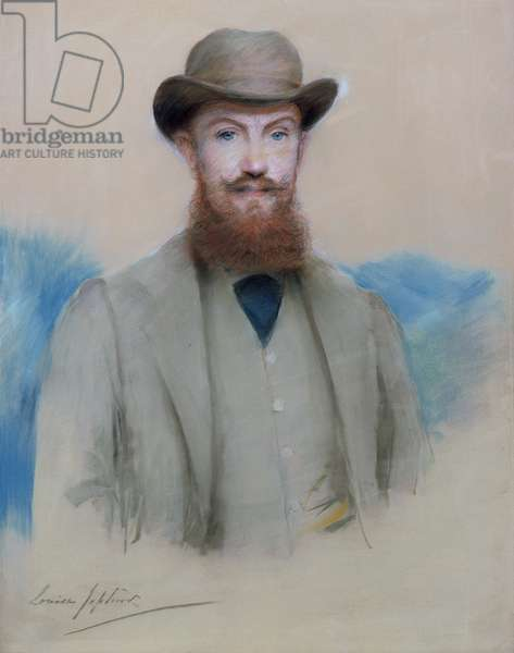 Portrait of George Bernard Shaw (1856-1950) as a Young Man (pastel on canvas)