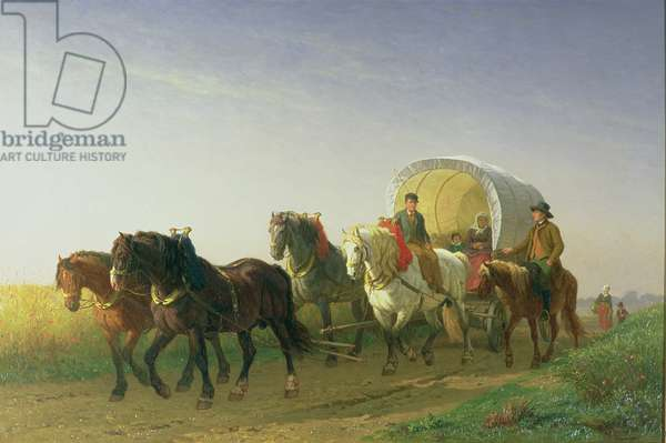 The Covered Wagon, 1868 (oil on canvas)