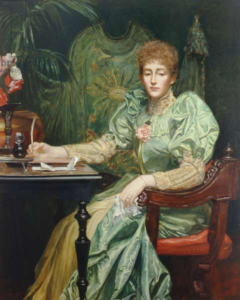 Portrait of Frances, Lady Layland-Barratt (oil on canvas)