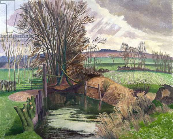 Disused Canal, Wormingford (oil on canvas)
